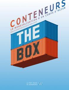 """Couverture du catalogue de l'expo """"The Box"""", printemps 2015, Port-Musée de Douarnenez."""